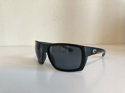 61192a5900 Costa Del Mar Sunglasses Hamlin HL 11 580p Matte Black Frame Grey Lens  Polarized