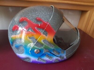 Skydiving Skydive Parasport Z1 Full Face Helmet custom grey paint job