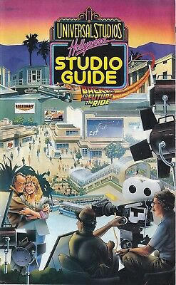 Universal Studios Hollywood Studio Guide 1993 1990s Vintage Booklet Back To The
