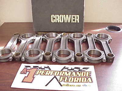 "8 Crower 6.250"" I-Beam 2.00"" Small Journal Racing Rods with 7/16"" Bolts SB Chevy"