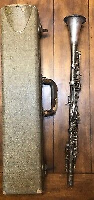 Vtg The Regent Ohio Band Instrument Co Silver Plated Clarinet W/ Case