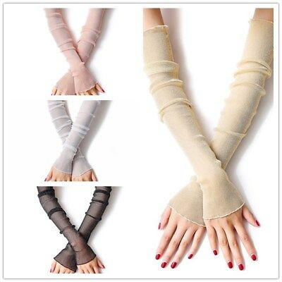 Gloves Women Summer Sun Protection Ladies Long Mesh Driving Glove Formal G