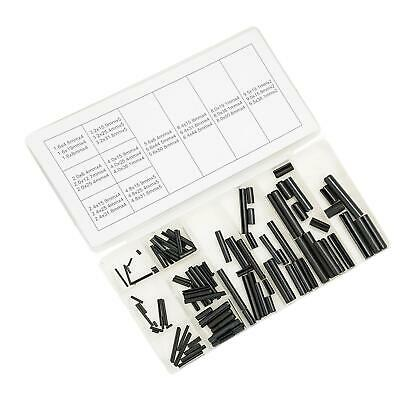 120Pc Assorted Roll Pin Set Tension Spring Sellock C Pins Mixed Pack 30 Sizes
