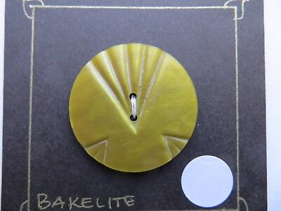 1930s Vintage Big Art Deco Lime Green Coat Dress Collectible Buttons-35mm