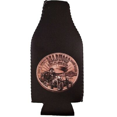 Deadwood Harley-Davidson® Bronze Coin Zip Bottle Coozie