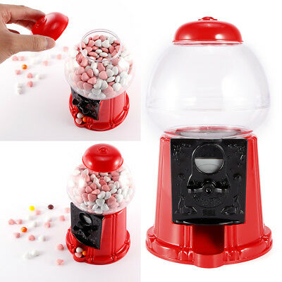 Gumball Dispenser Machine Toy Bubble Gum Bag Coin Operated Bank Xmas Kids Fun
