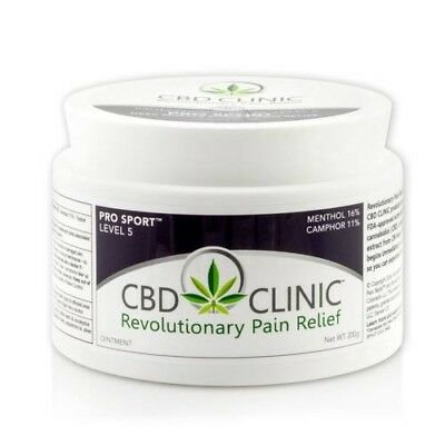 CBD Clinic Level 5 Pro Sport Pain Relief 44g - 1.55oz Tub