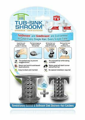 TubShroom & SinkShroom Hair Catchers Strainers Drain Protectors for Tub and Sink