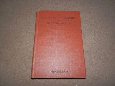 A Day Book of Thoughts Mahatma Gandhi Macmillan 1969 Hardback