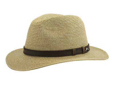 Tommy Bahama Men s Fine Braid Tea Toyo Safari Hat Sz  ... 9923204a6665