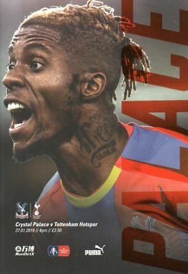 CRYSTAL PALACE v TOTTENHAM    FA CUP OFFICIAL  PROGRAMME  27/1/2019