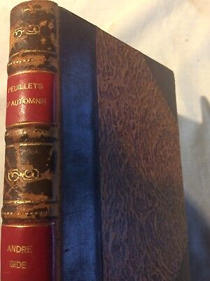 Autumn Leaves / Feuillets d'Automne  - ANDRE GIDE (Leather Binding)