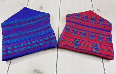 Lot of 2 Vtg MAUREEN OF THE MEWS Ski Snowboard Wool Hats USA Made Unisex O/S W32
