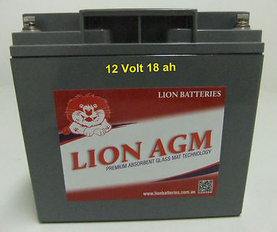 Mobility Scooter Battery Lion Deep Cycle 12V 18Ah - Free courier