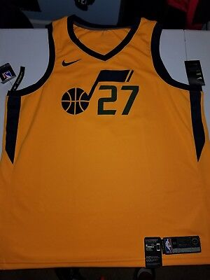 b0f20493b1f Utah Jazz Rudy Gobert Nike NBA Men s Statement Swingman Jersey New Sz 56