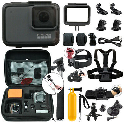 GoPro HERO7 Silver 10 MP Waterproof 4K Camera Camcorder + Complete Action Bundle