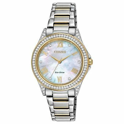 Citizen EM0234-59D Women's POV Mother of Pearl Eco-Drive Watch