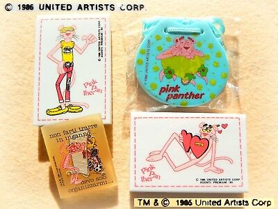 💕 Vintage 1986-88 PANTERA ROSA Gomme Gommine Pink Panther Eraser NUOVE SEALED ⚽
