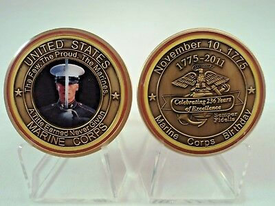 Marine Corps Birthday 2011 USMC Challenge Coin The Few The Proud Semper Fi Motto