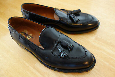 38ed1ff4e9806 New Alden for Brooks Brothers Black Shell Cordovan Tassel Loafer 9.5D MSRP   728
