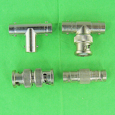 Set of 4 BNC Adapters 1 (F-F-F) Tee, 1 (M-F-F) Tee, 1 (F-F) Coupler, 1 M-M Union