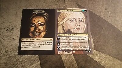 Hillary Clinton Collectible Trading Card Magic the Gathering