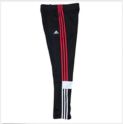 83944ffd ADIDAS 3STRIPES YOUTH Performance Midfielder Warm Up Track Pants  Black-Black Red