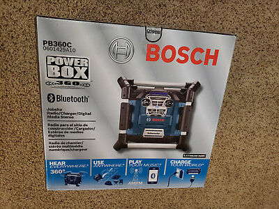 Brand New in Box Bosch PB360C 18V Li-Ion Power Box Jobsite Digital Media Stereo