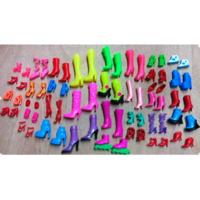 Fashion Party Daily Wear Dress Outfit Clothes Shoes For Barbie Doll Random 1Pair