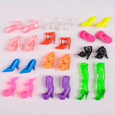 Fashion Party Daily Wear Dress Outfit Clothes Shoe For Barbie Doll Random 4 Pair