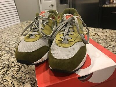 outlet store 69aac 4e50e NIKE AIR MAX 1 PREMIUM RETRO 908366-300 GREEN CURRY OLIVE SPRUCE Used SIZE