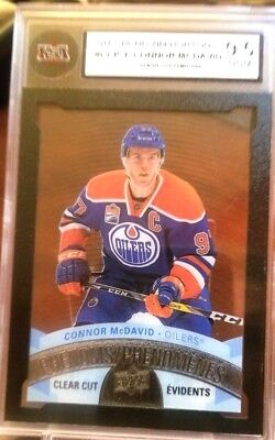 2017 Ud Tim Hortons Connor Mcdavid Clear Cut Phenoms Acetate Graded 9.5 Edmonton