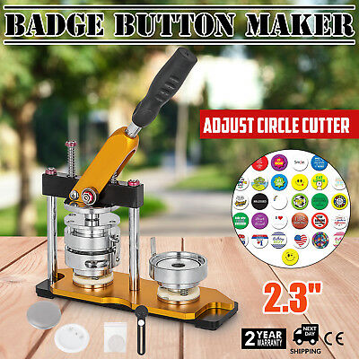 """58mm(2.28"""") Button Maker Rotate Machine Bottle Openers Pin Buttons Badge AU"""