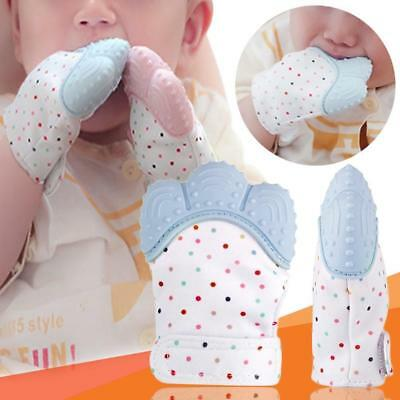 Silicone Baby Mitt Teething Mitten Glove Gum Candy Wrapper Crisp Sound Teether