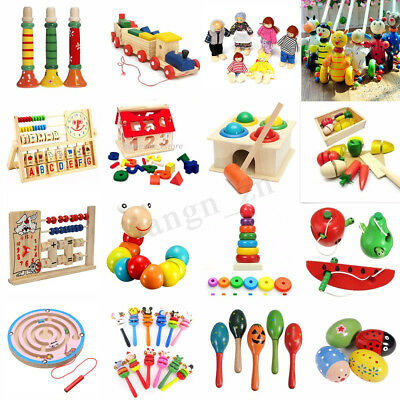 Kids Baby Educational Children Intellectual Wooden Toy Birthday Christmas