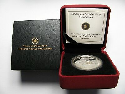 1908-2008 Proof $1 100th Ann RCM Mint .925 Silver Dollar w/ gold plate Canada on