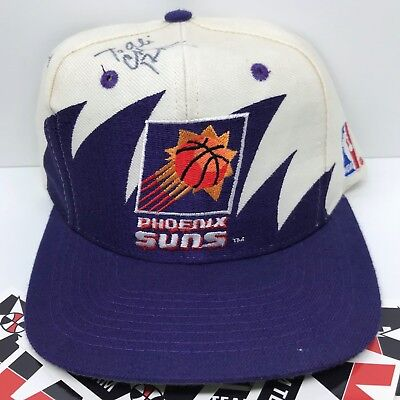 a56dd7e6 Vintage 90s Phoenix Suns Logo Athletic Sharktooth SnapBack Hat SIGNED BY  BARKLEY