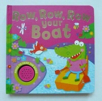 row row row your boat sound and sing along musical book kids ages 0 month+ new