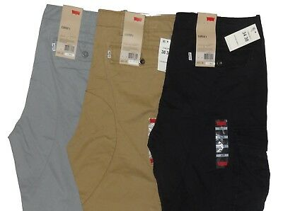 8d4b2241 Levis Relaxed Fit Ace Cargo Pants Beige Tan Black Grey Gray 30 32 33 34 36