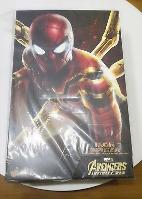 "Pre order Hot Toys 1/6 Avengers Infinity War MMS482 Iron Spider-Man 12"" Figure"