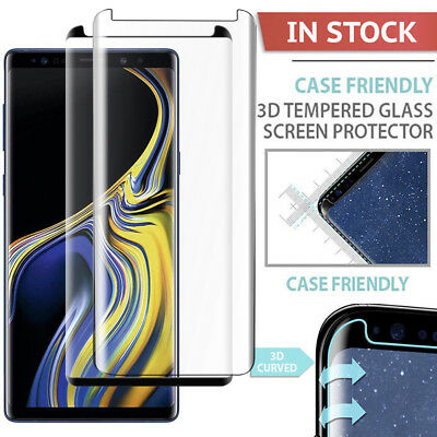Fr Samsung Galaxy Note 9 S8 S9Plus Case-Friendly Tempered Glass Screen Protector