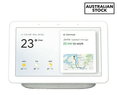 Google Home Hub Smart Home Controller (AU Version) - Chalk