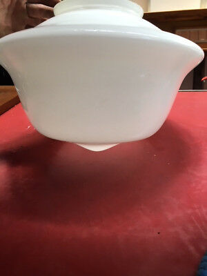 Art Deco Large Milk White Glass Light Fitting Ceiling Pendent Light Shade
