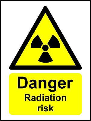 Warning sign Danger radiation risk Safety sign