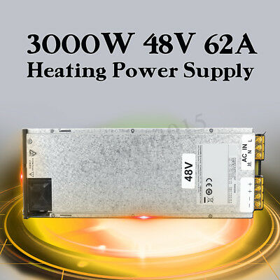 ZVS 3000W Induction Heater Heating Power Supply Unit DC 48V 62A Output AC 220V