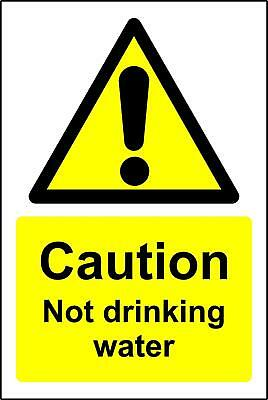 Warning sign caution not drinking water Safety sign