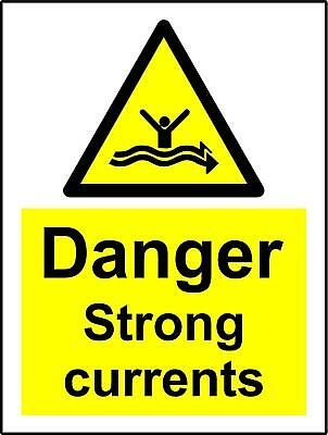 Warning sign Danger strong currents Safety sign