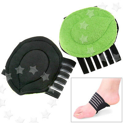 Pair Support Arch Cushion Absorber Relief Flat Pain Foot Feet Care Instep pad