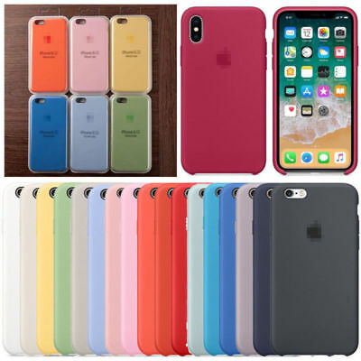 Genuine Originale Silicone Sottile Custodia Cover per iPhone 8 7 6s 6 plus it A+