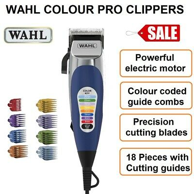 WAHL Hair Clippers Haircut Clipper with Cordless Beard Trimmer 19pc Electric NEW